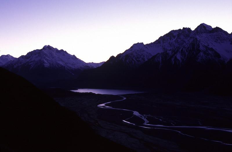 Tasman Lake, Malte Brun Range and The Nuns Veil