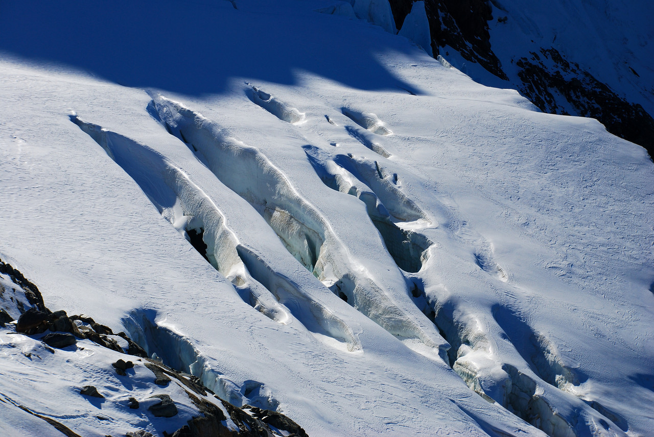 Crevasses on the Tewaewae Glacier