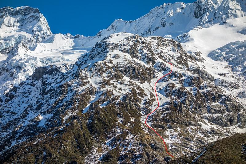 Sefton Bivvy - route topo for winter access