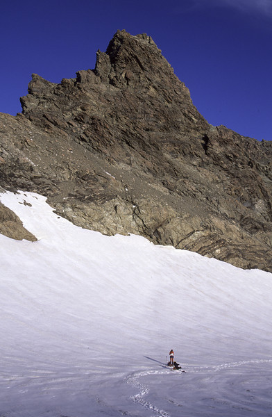 Our campsite on Nuns Veil Glacier