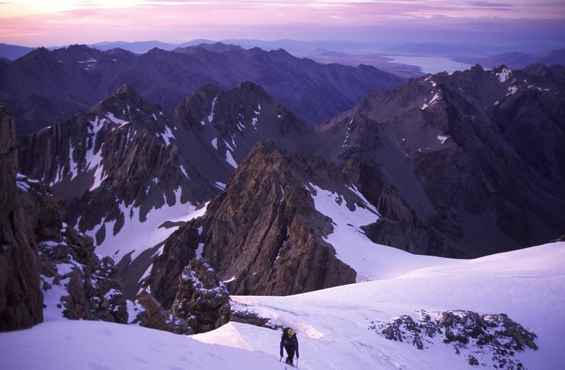 At dawn on Nuns Veil Glacier