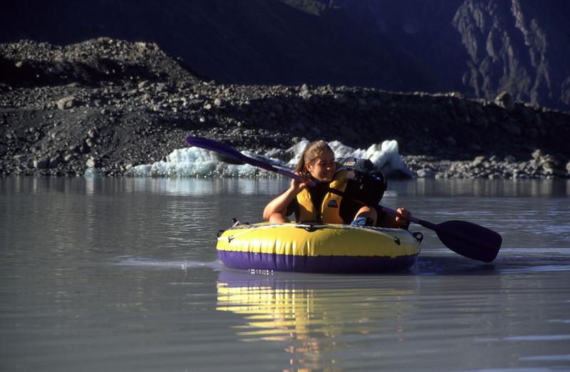 Aquanauting across the Tasman Lake.