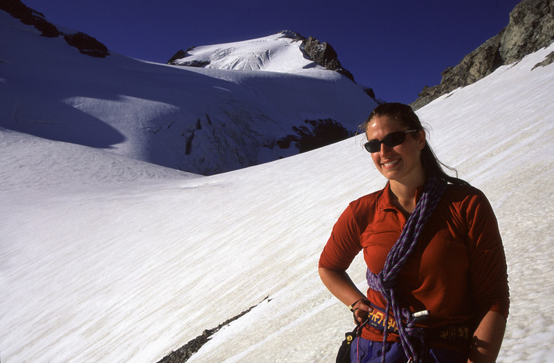 Jo on Nuns Veil Glacier