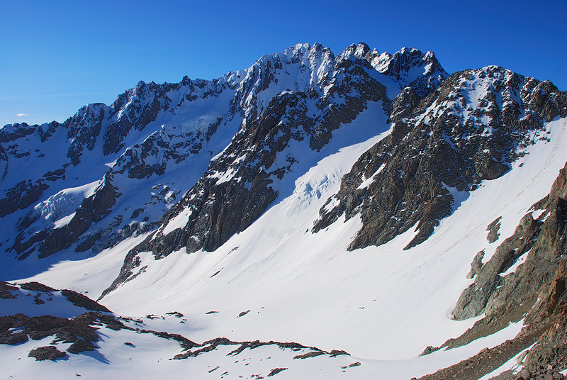 Mt Arrowsmith and the Ashburton Glacier from pt 2238m