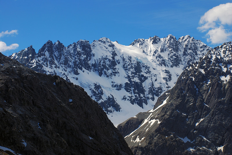 View of Jagged Peak from the east slopes of pt 2238m, Cameron River