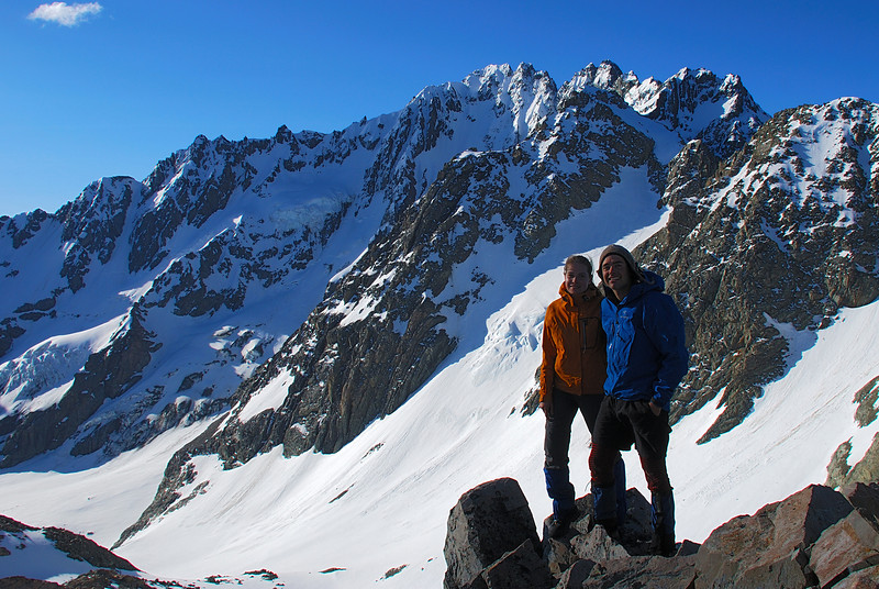 On top of pt 2238m. Mt Arrowsmith and the Ashburton Glacier behind