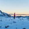 Sunrise at Casey Tarn, Birdwood Range.