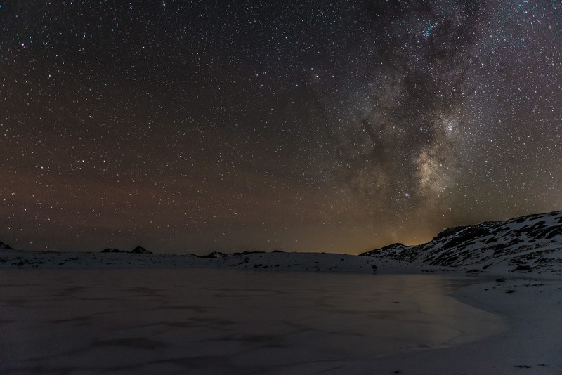 The Milky Way over Casey Tarn, Birdwood Range