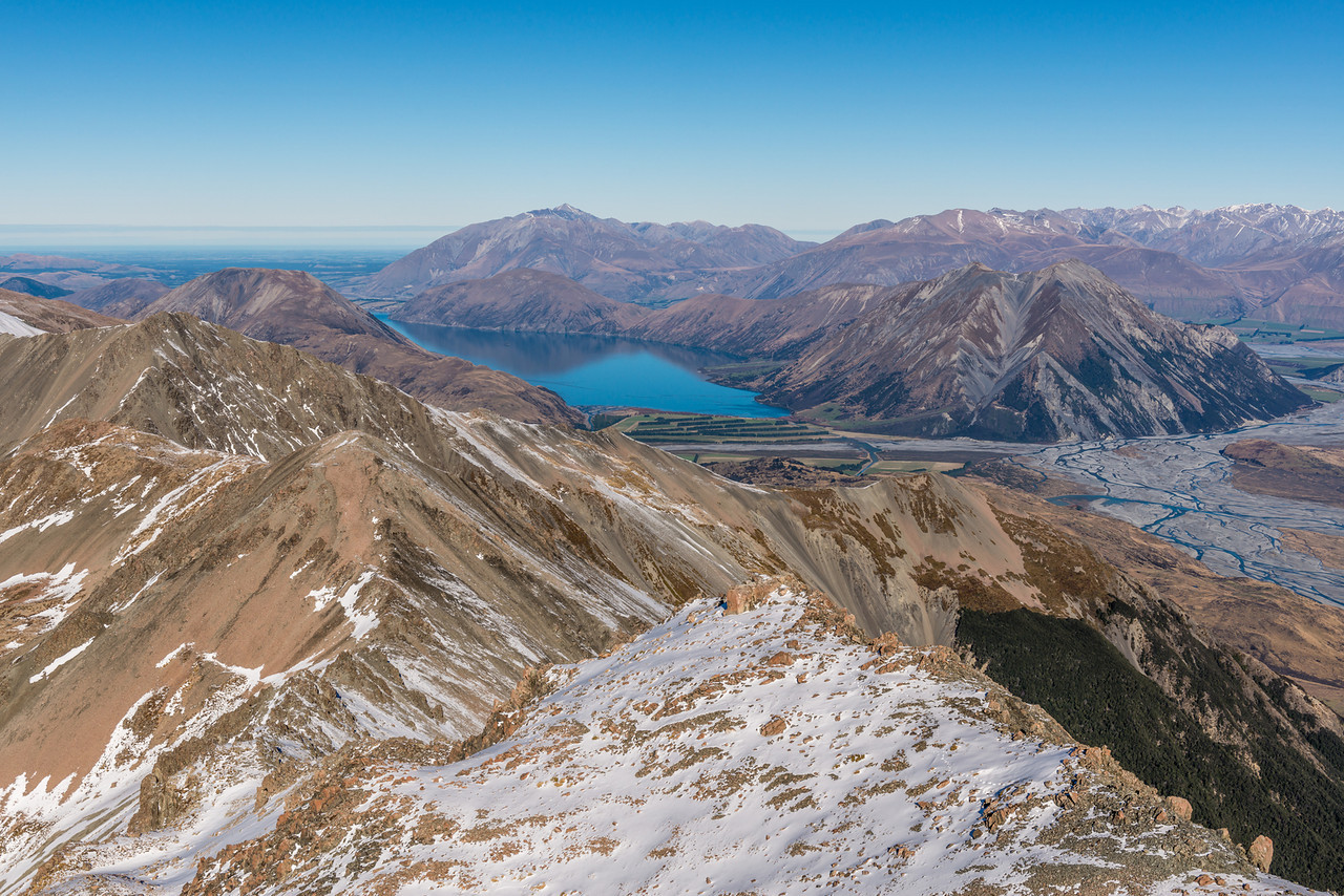 View of Lake Coleridge from Pt1989m, Birdwood Range
