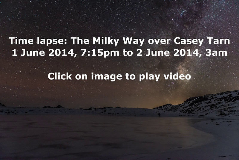 Timelapse video: The Milky Way over Casey Tarn