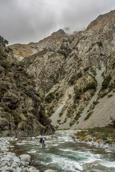 Bush Stream - one of many river crossings