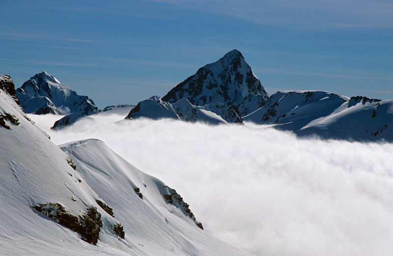 Blair Peak and Malcolm Peak from the Lambert Glacier