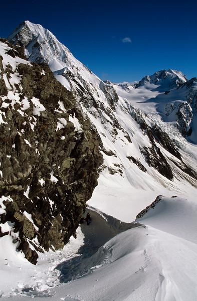 Malcolm Peak and Blair Peak from McCoy Col