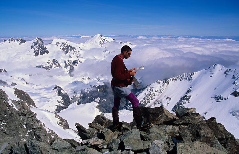 On the summit of Newton Peak