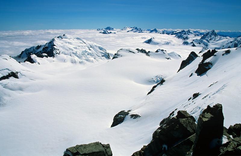 Mt Lambert and the Garden of Allah from Newton Peak