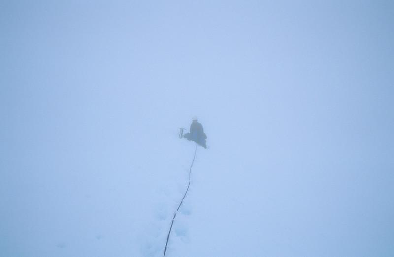 Whiteout on the Frances Glacier