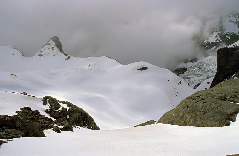 Beelzebub Glacier from below Adams Col