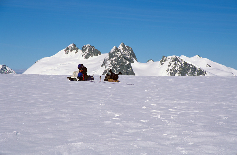 On the col separating the Garden of Allah from the Lambert Glacier