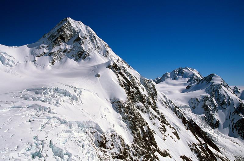 Malcolm Peak and Blair Peak from below Rangitata Col