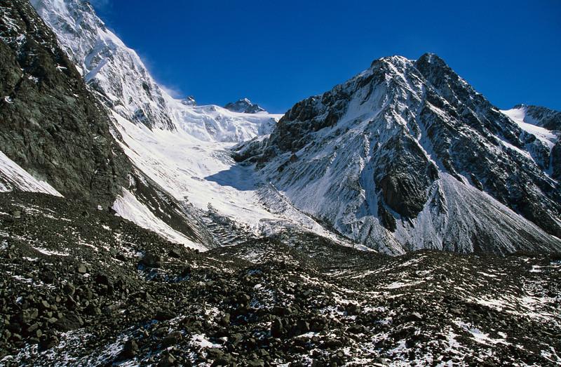 Lyell Glacier Moraine and Cockayne Glacier ice-fall