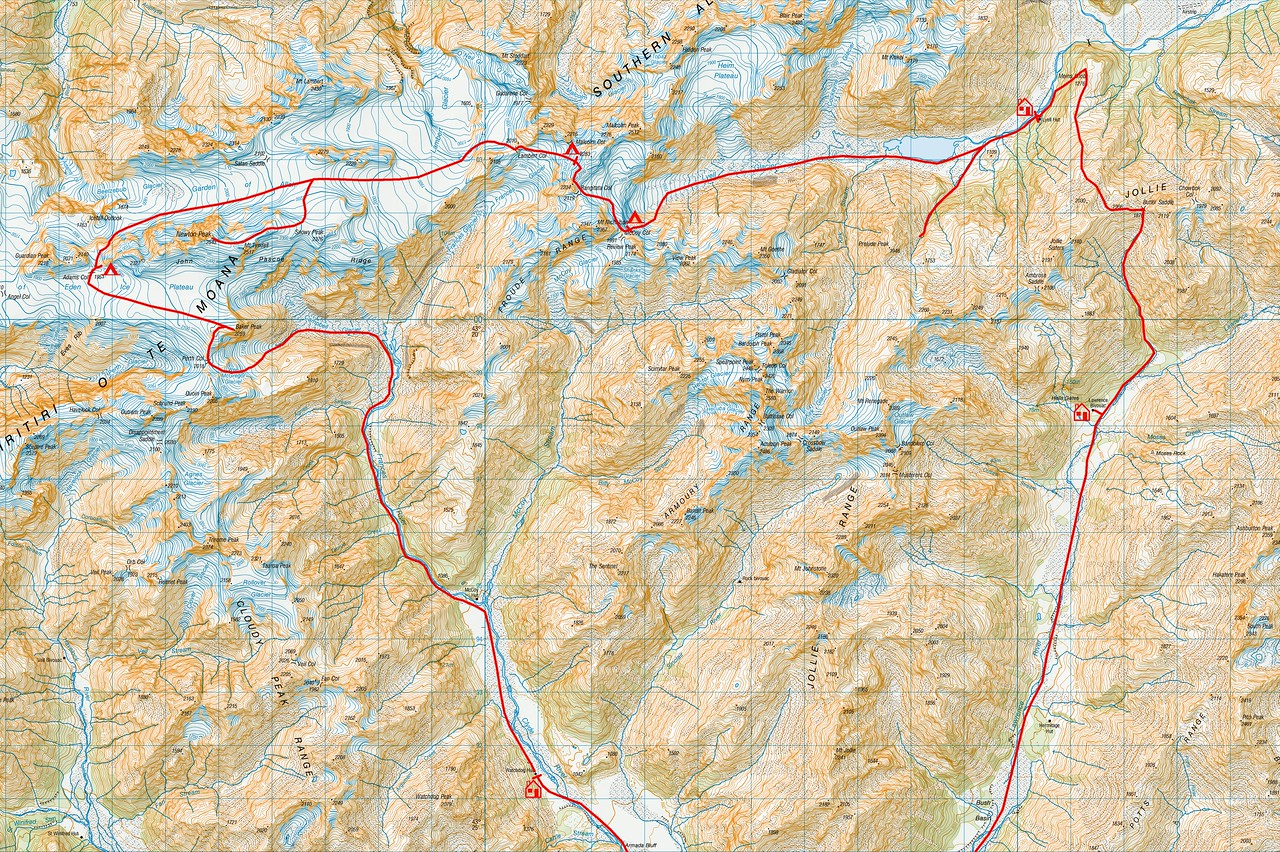 "Trip map detail. 1 grid square = 1km. Left click on map then select ""Sizes -> Original"" in bottom right corner of screen to view full size"