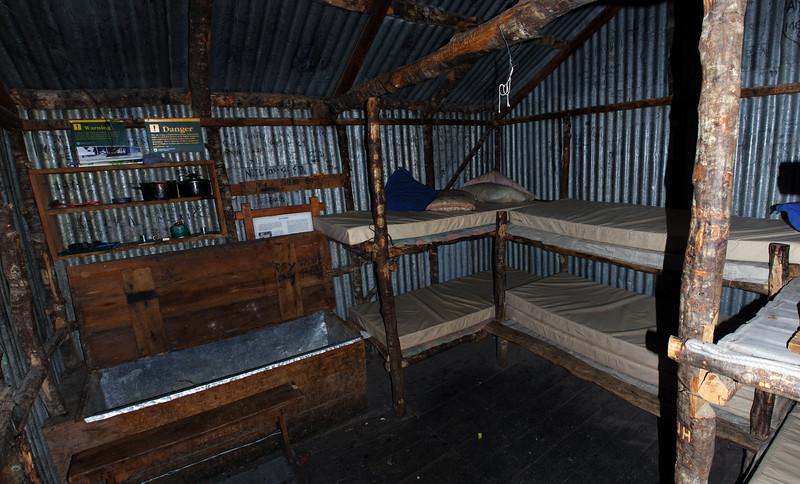 Bealey Top Hut interior