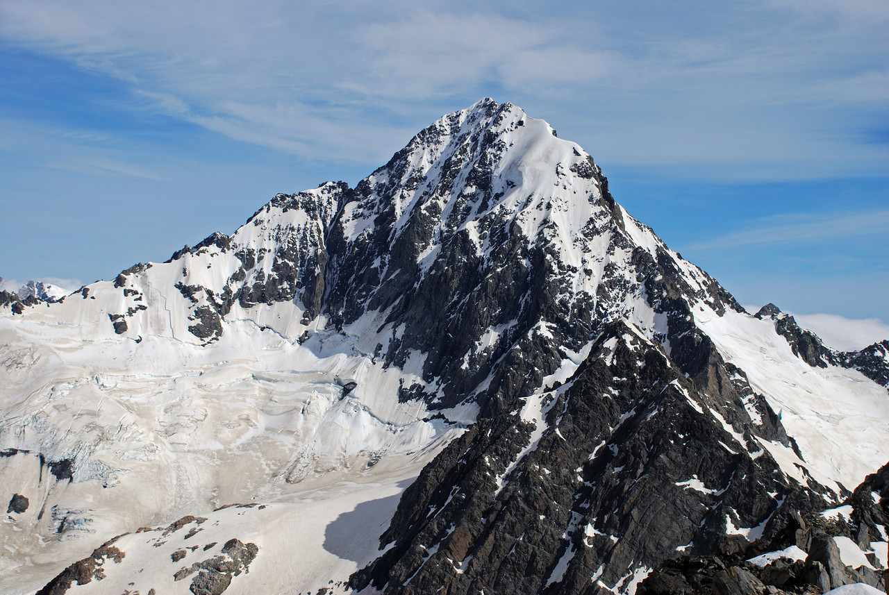 The south face of Mt D'Archiac from the pass north of Mt Forbes