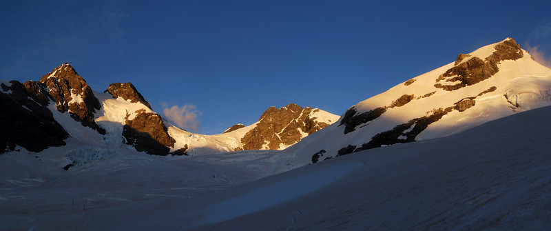 On the Neish Plateau: Mt Wolseley, Mt Kennedy, Mt Victoire, and the south-east shoulder m2245 of McKinnon Peak