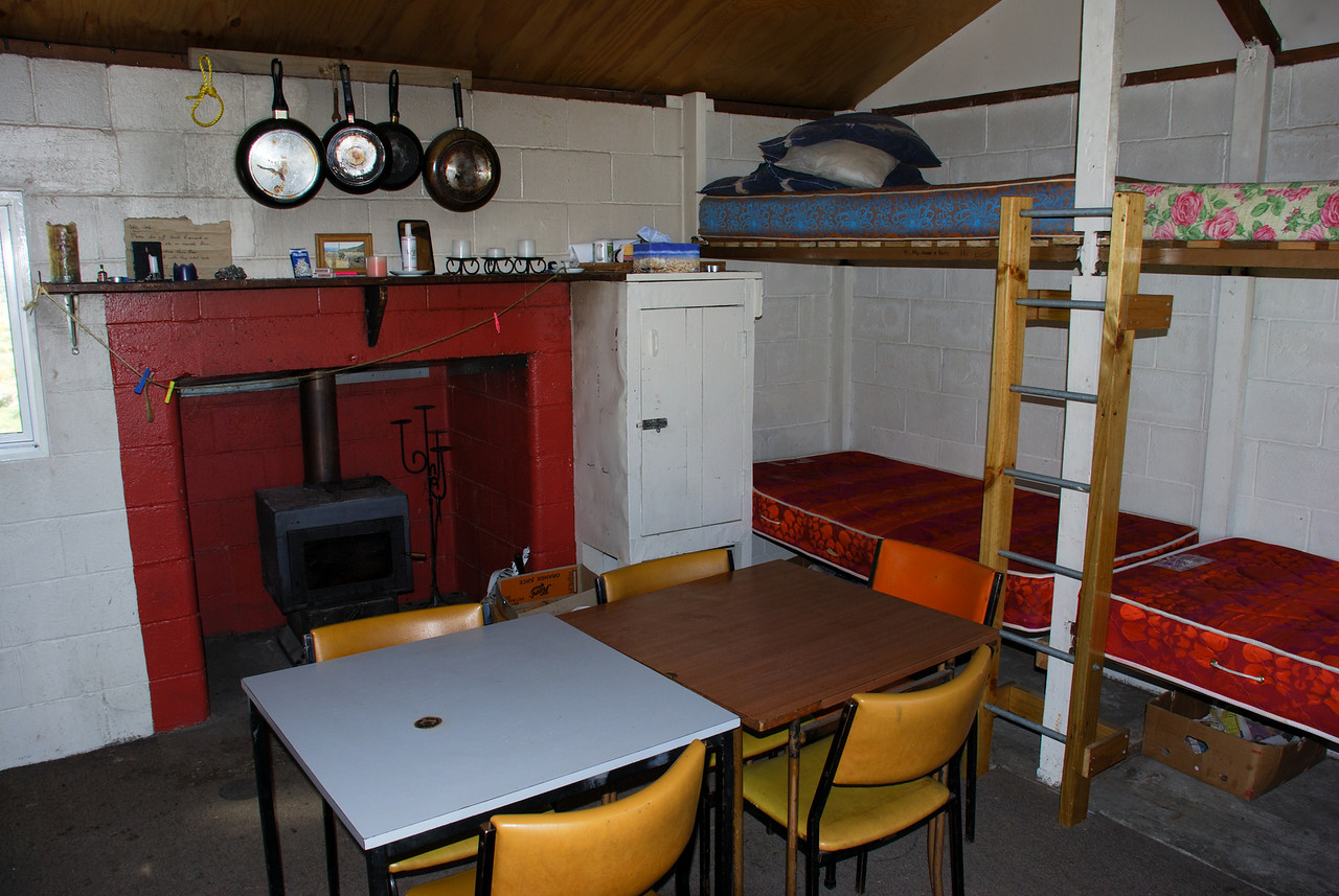 Black Mountain Hut interior
