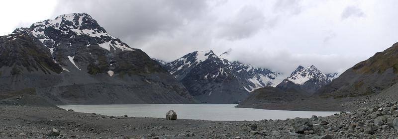 Panorama, Gordon Peak, Mt Fletcher and lower Godley Lake.