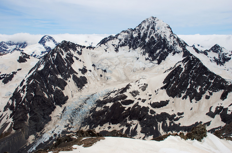 Mt D'Archiac and Separation Glacier from Mt Forbes