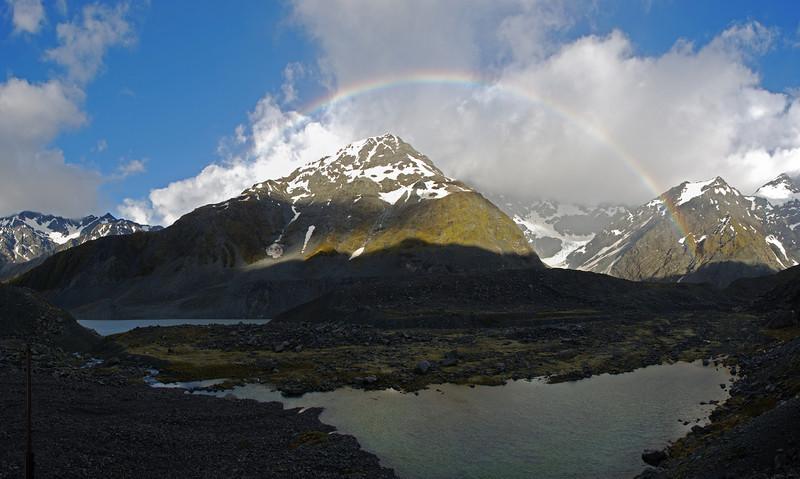 Rainbow over Panorama and Gordon Peak
