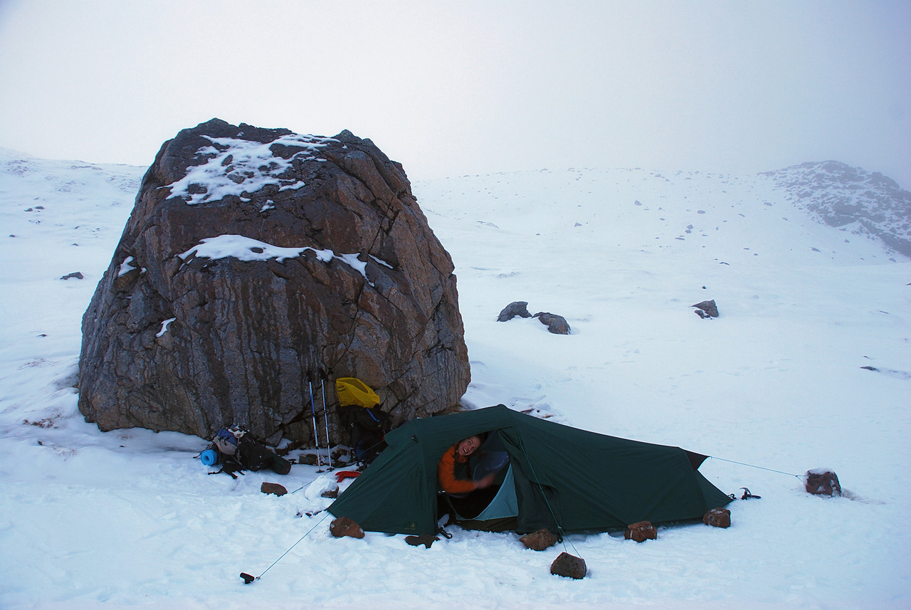 Campsite on Lyell Peak