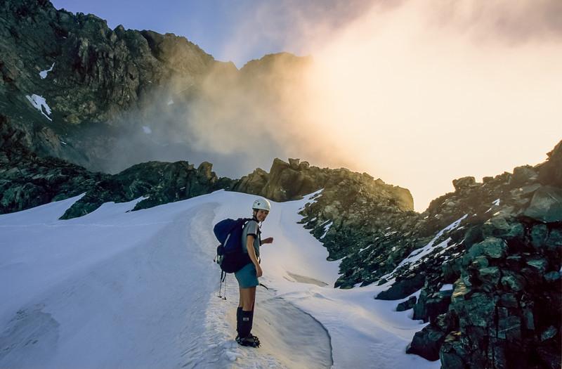 Descending Goldney Ridge