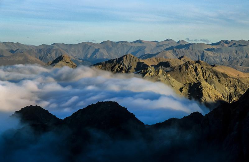 View from Mt Rolleston's Goldney Ridge