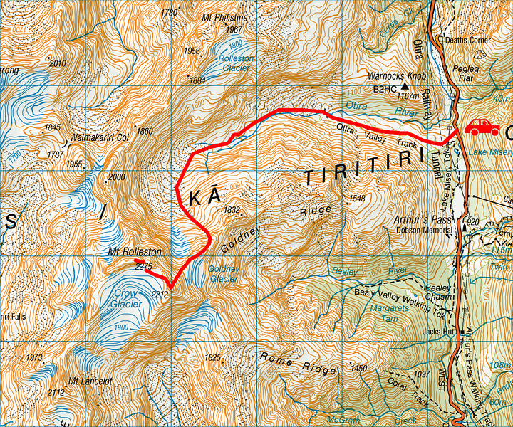 """Trip map. 1 grid square = 1km. Left click on map then select """"Sizes -> Original"""" in bottom right corner of screen to view full size"""