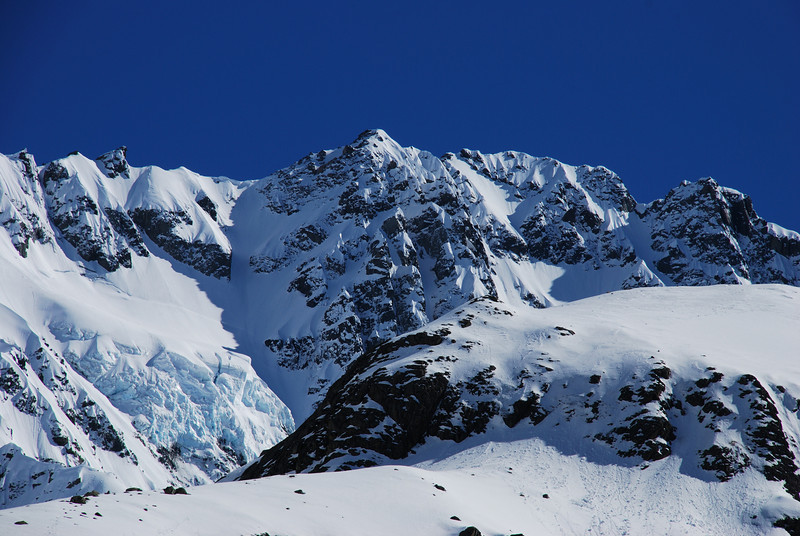Mt Arrowsmith South Face (top section)