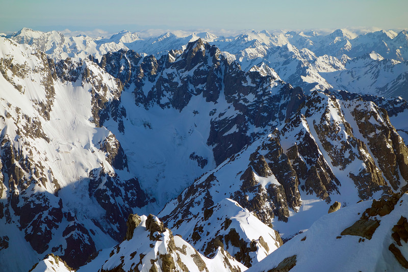 View north from Mt Arrowsmith