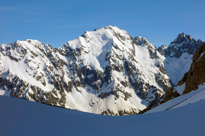 Mt Gould, Red Peak and North Peak at the head of the Lawrence