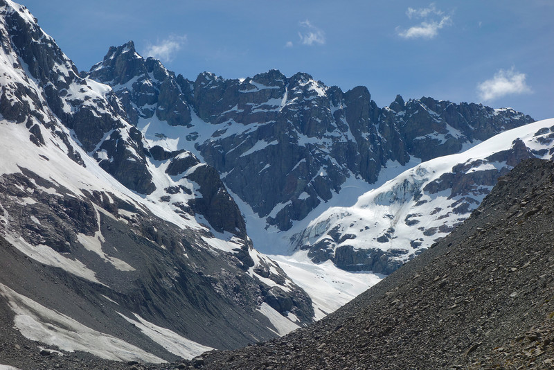 North Peak at the head of the Lawrence Glacier