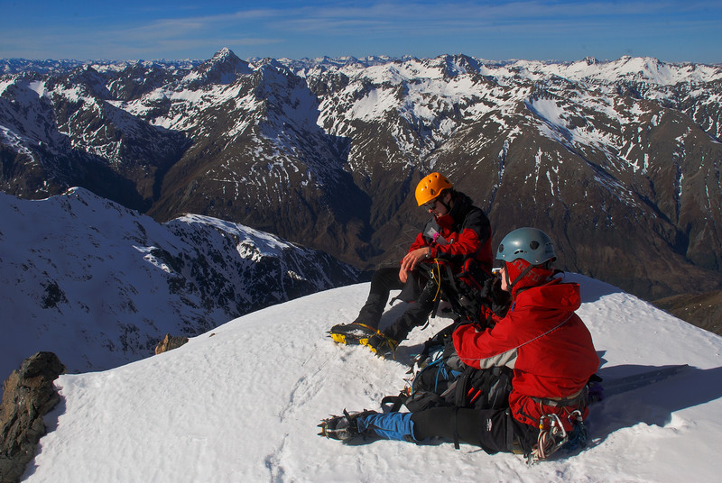 Taking a rest high up on Rome Ridge