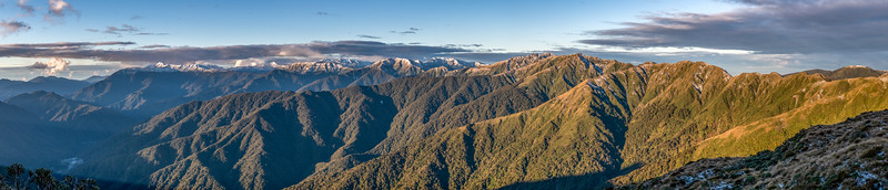 Looking north-east from Dennan. Tararua Forest Park.