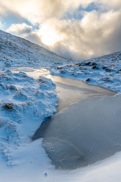 Frozen tarn near Kime Hut, Tararua Range