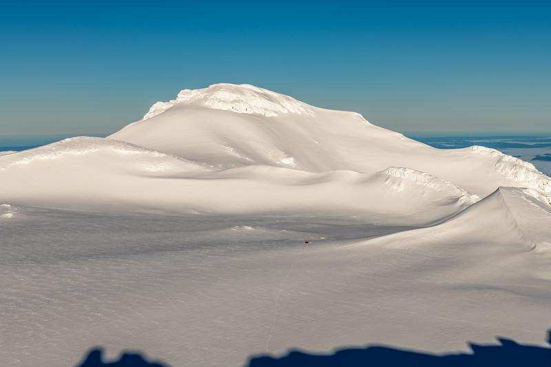 Mount Ruapehu's Summit Plateau and Paretetaitonga from Tukino Peak