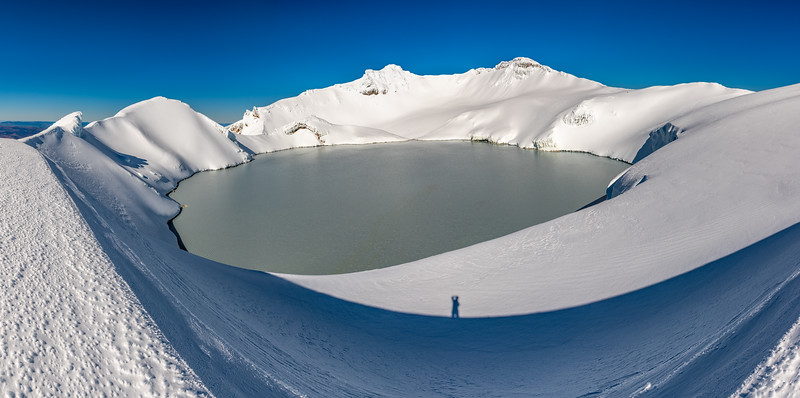 Mount Ruapehu's Crater Lake and Tahurangi