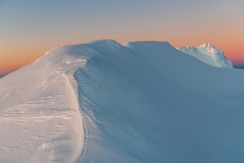 Glacier Knob and Tukino Peak, Mount Ruapehu.