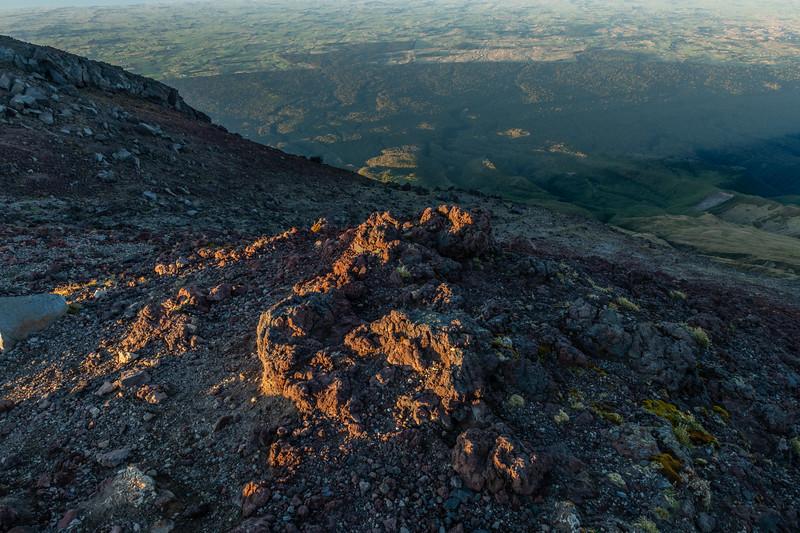Rock formations on Fanthams Peak, Taranaki