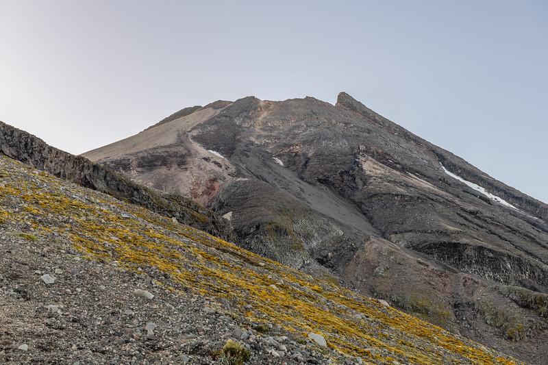Taranaki Maunga from the Southern Summit Route on Fanthams Peak