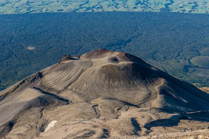Rangitoto Flat and Fanthams Peak from the southern slopes of Taranaki.