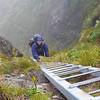 Nina on the ladder between Tuiti and Tunui